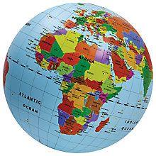 Buy Mega Inflatable Globe, 50cm Online at johnlewis.com