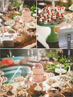 dessert table by my sweet and saucy | CHECK OUT MORE IDEAS AT WEDDINGPINS.NET | #weddingcakes
