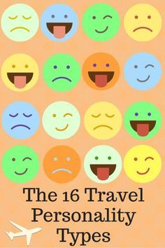 The 16 Travel Personality Types ....Which one are you? Take the test and find out!