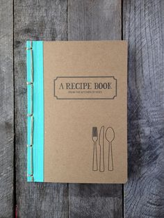 A unique book for your recipes. Pictured with NAVAJO binding.  **All of my books are completely handmade by me alone, so please allow time to make.