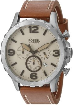 4377d0dcd99d Fossil Nate Chronograph Leather Watch Fossil Nate Chronograph