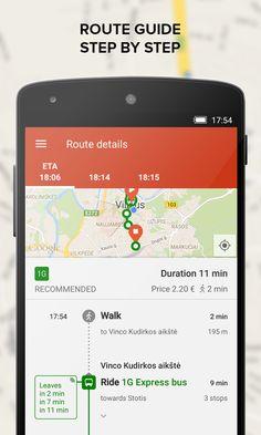 TRAFI real time public transit - screenshot