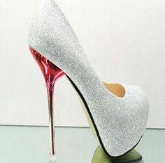 cute, but that is a little to high...Hot High Heels Party Girl Glitter Platform Open Toe Women Shoes