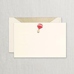 Hand Engraved Hot Air Balloon Correspondence Card