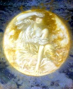 Edward Robert Hughes British, 1851 - 1914 Radiant Moon (detail)