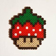 Strawberry mushroom perler beads by perler_artwork