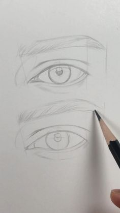 Since you guys ask me a lot how to draw an eye for beginners I sketched this eye for you showing just basic lines simple enough to understand the shapes of an eye. I hope its helpful. In the next video Im gonna show how I shade the eye. Easy Pencil Drawings, Pencil Sketch Drawing, Drawing Eyes, Anime Sketch, Art Drawings Sketches, Doodle Drawings, Sketch Of An Eye, Drawing Of An Eye, Sketches Of Eyes
