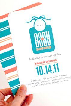 Bib Baby Shower Invitation Boy Baby Shower by PearentheticalPress, $12.00
