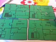Fractions for grouping. Give each child a puzzle piece and tell them to find the other pieces that show the same fraction, and that will be their group :) Good for maths groupings, or just sneaking more numeracy into everyday