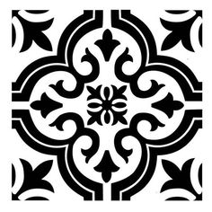 TILE18 Reusable Laser-Cut Floor or Wall Tile Stencil
