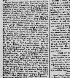 07.07,1857 Dead Rabbit Riot testimony 3. Policeman