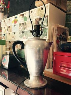 Coffee Percolator Lamp!  https://m.facebook.com/story.php?story_fbid=10156236668470454&substory_index=0&id=201888465453