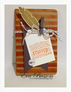 Thanksgiving Tag a Journal  Stampin' Up!