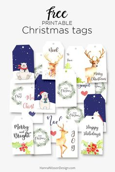 Free Printable Christmas Gift Tags from Hanna Nilsson Design {subscription required} Free Printable Christmas Gift Tags, Christmas Labels, Printable Tags, Noel Christmas, Christmas Gift Wrapping, Free Printables, Christmas Crafts, Xmas, Christmas Graphics