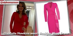 Where did Charlotte hawkins get her pink wrap dress from on good morning britain - Style on Screen Charlotte Hawkins, Good Morning Britain, Wrap Dress, Dresses With Sleeves, Long Sleeve, Pink, How To Wear, Style, Fashion