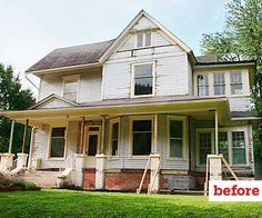 before of queen anne exterior, curb appeal before and after