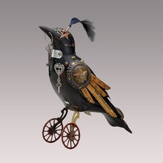 Love this steampunk crow! I already have one of Jim's more colorful birds, but may need this one next!