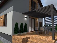 ELEWACJE I OGRODY Lanai Patio, Pergola Patio, Pergola Plans, Backyard, House Deck, Facade House, House Front, Modern Patio, Modern Exterior