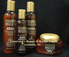 New Mizani Supreme Oil Collection!  1-800-952-5415 Black Hair Care
