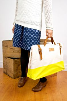 Bon Journey - The perfect expedition bag - In yellow. By The New Domestic