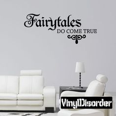 Fairytales Do Come True Princess Wall Decal - Vinyl Decal - Car Decal - Mv013