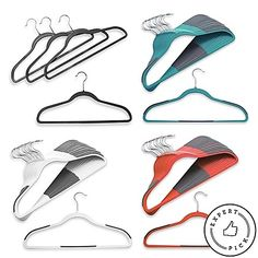 Shop for studio slim grips hangers at Bed Bath & Beyond. Buy top selling products like Studio Slim Grips™ Hangers and undefined. College Dorm Storage, College Dorm Essentials, Belt Hanger, Hangers, Dorm Room Closet, Closet Space, Scarf Organization, Small Closets, Clothes Hanger