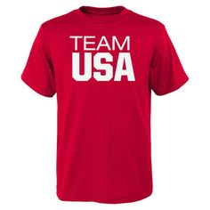 Team USA 2016 Olympics Pride T-Shirt - Red