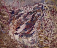 """Trees in Autumn,"" Marsden Hartley, 1908, oil on academy board, 16 3/8 x 18 1/2"", Weisman Art Museum."