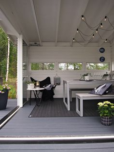 Hannas Home / Housing fair 2016 in Finland / Olotar Garden Living, Home And Garden, Summer Cabins, Scandinavian Home, Pergola, Sweet Home, Backyard, Cottage, Outdoor Decor