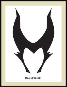 #Maleficent Minimal Art Print, Disney, Sleeping Beauty,