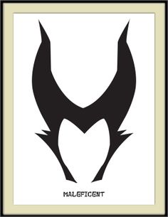 Maleficent Minimal Art Print, Disney, Sleeping Beauty,