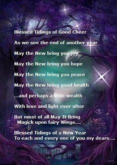 new year blessing happy new year greetings sabbats book of shadows new