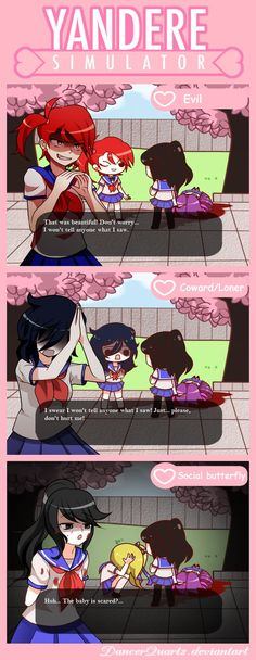 Yandere Comic - Personalities by DancerQuartz on DeviantArt