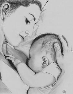 Drawing For Beginners Resultado de imagem para desenho mae e filha tattoo Love Pencil Sketch, Pencil Drawing Images, Pencil Drawings Of Love, Sketches Of Love, Art Drawings Sketches, Mom Drawing, Mothers Day Drawings, Baby Sketch, Mother Art