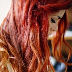 Exactly how i wanna dye my hair. Ginger Ombre, Orange Ombre Hair, Red Ombre, Ombre Hair Color, Blonde Color, Hair Colors, Dye My Hair, Fringe Hairstyles, Trendy Hairstyles
