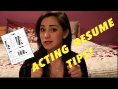ACTING RESUMES: DOs & DONTs (HOW TO) | JENNA LARSON
