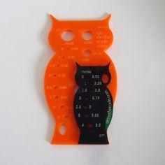 needle gauges owl