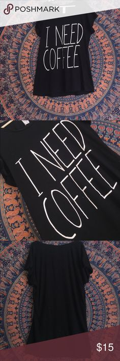 I need coffee lounge/ sleep shirt☕️💓 This is such a cute & comfy tee! Perfect to sleep, lounge, or wear out in! 💕 Forever 21 Tops Tees - Short Sleeve