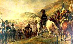 1817 - Cruce de los Andes - Guerra independencia Hispanoamerica Conjunto de maniobras para atravesar la cordillera de los Andes desde la región argentina de Cuyo hasta Chile - Plan que el general José de San Martín desarrolló para llevar a cabo la Expedición Libertadora de Chile y del Perú.