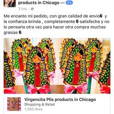 Algunos de sus reviews de compras, muy agradecida con todos ustedes!!! 🙏🏽💕😍💜 some  of your purchases reviews, very thankful with all of you! #virgen #virgencita #virgencitas #virgencitaplis #virgendeguadalupe #virgemmaria #virgencitacuidameporfis #virgencitaplisproducts #virgencitaplisproductsinchicago #recuerdos #recuerditos #recuerdosbonitos #recuerdosdebautizo #babyshower #boys #girls #baby #bautizo #comunion #cute #pink #favours #niña #niñas #babygirl #babypink #favours #evedeso…