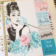GLAM GIRL Planner Dashboard Fashion Girl by PollyEsterAndFriends