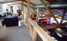 Man cave shop with loft