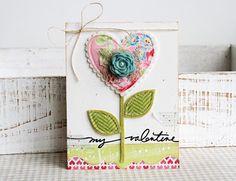 Cute Heart Flower Card...paperie sweetness.