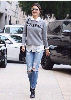 Alessandra's Los Angeles Jumper Street Style.