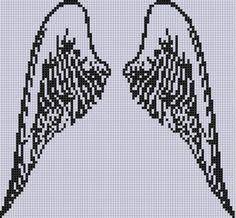 Angel Wings 2 Cross Stitch Pattern