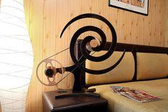 VORTEX | Wooden Kinetic Sculpture Plywood Art, Kinetic Art, Baltic Birch Plywood, Dark Wood, Cosmic, Art Pieces, Sculptures, Wall Art, Places