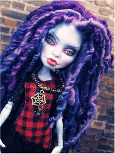 OOAK Abby Bominable Repaint ~Monster High Custom Doll with Dreadlocks~ NEW BIN