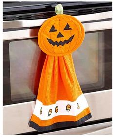 Halloween Decor Kitchen Hand Towel Pot Holder Set Decorative Hand Towel 2-Piece