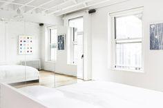 Grand St Loft by Amee Allsop - Design Milk Workspace Inspiration, Interior Inspiration, Soho Loft, Duplex, Minimalist Furniture, Loft Design, Dream Bedroom, Minimalism, Family Room