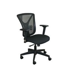 Marvel Office Furniture Fermata Mesh Desk Chair Upholstery Color: Black Fabric and Black Base, Headrest Included: No